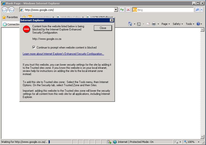 Disable Internet Explorer Enhance Security (IE ESC) in Windows