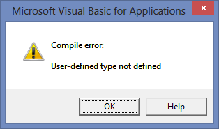 Error: User-defined type not defined