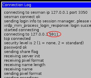 xrdp 'Connection Log'